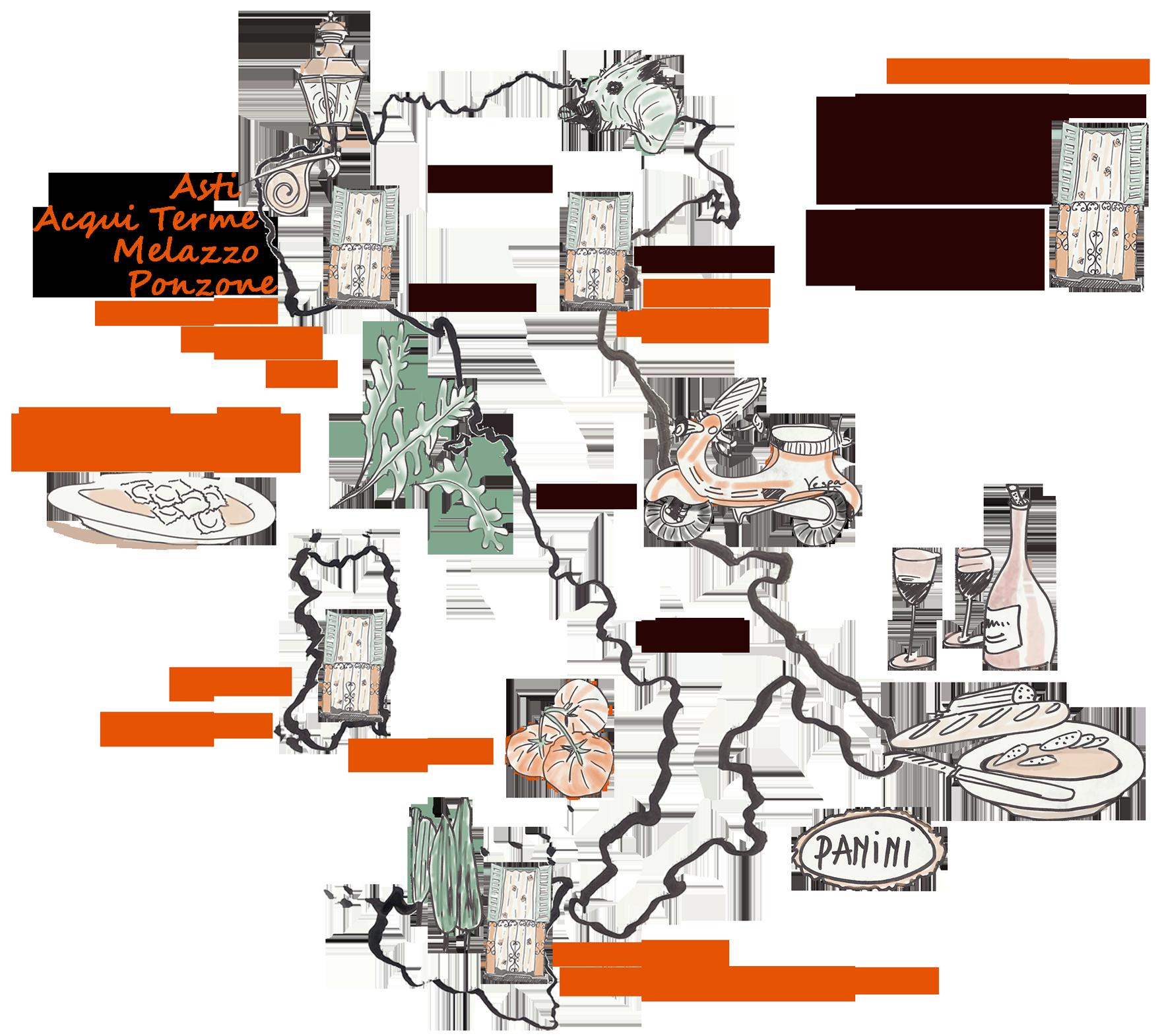 Italian Balconies Map balconcini